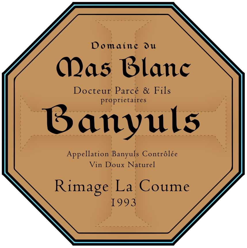 Domaine du Mas Blanc Rimage 'La Coume' 1993