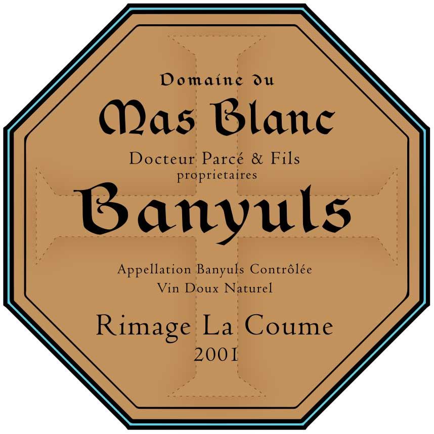 Domaine du Mas Blanc Rimage 'La Coume' 2001
