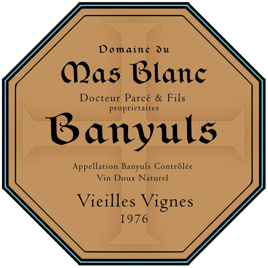 """Domaine du Mas Blanc Banyuls """"Vieilles Vignes"""" 1976"""