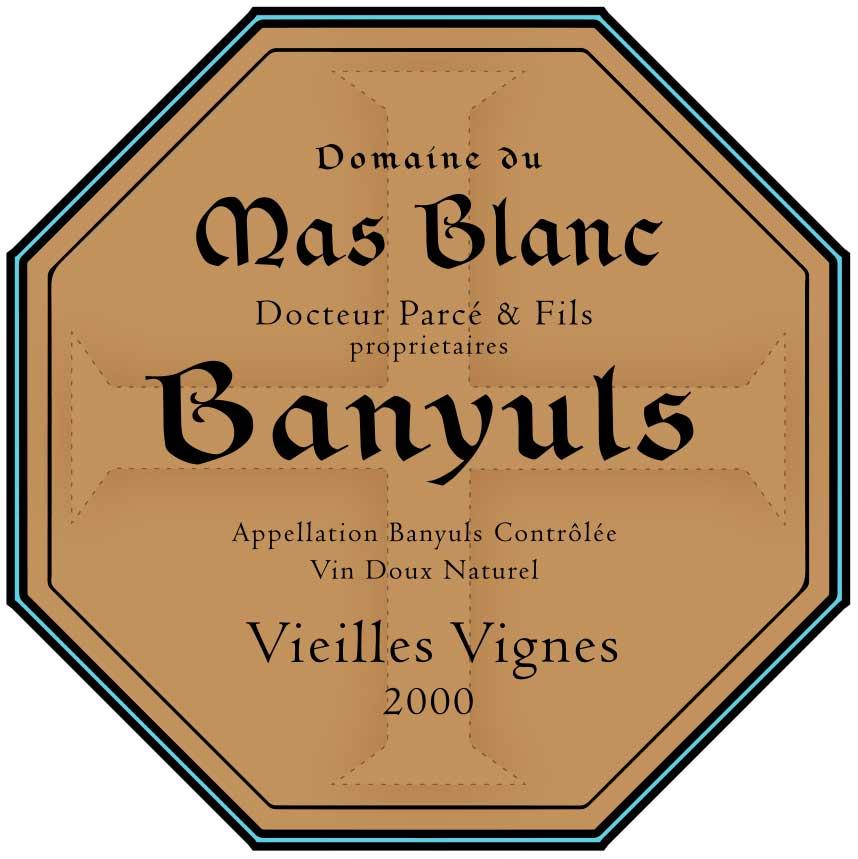 """Domaine du Mas Blanc Banyuls """"Vieilles Vignes"""" 2000"""