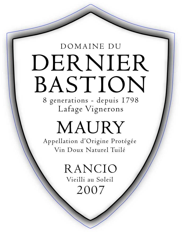 Domaine du Dernier Bastion Maury Rancio 2007