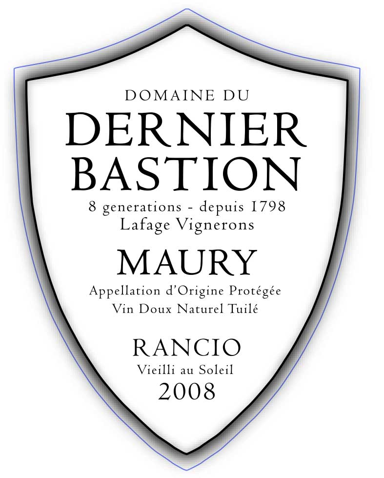 Domaine du Dernier Bastion Maury Rancio 2008
