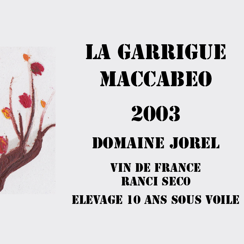 "Dom Jorel ""La Garrigue"" Rancio Sec"