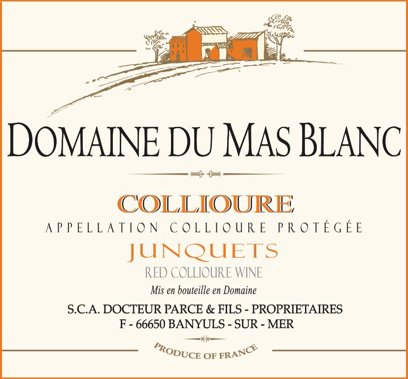 Domaine du Mas Blanc Collioure 'Les Junquets' 2000
